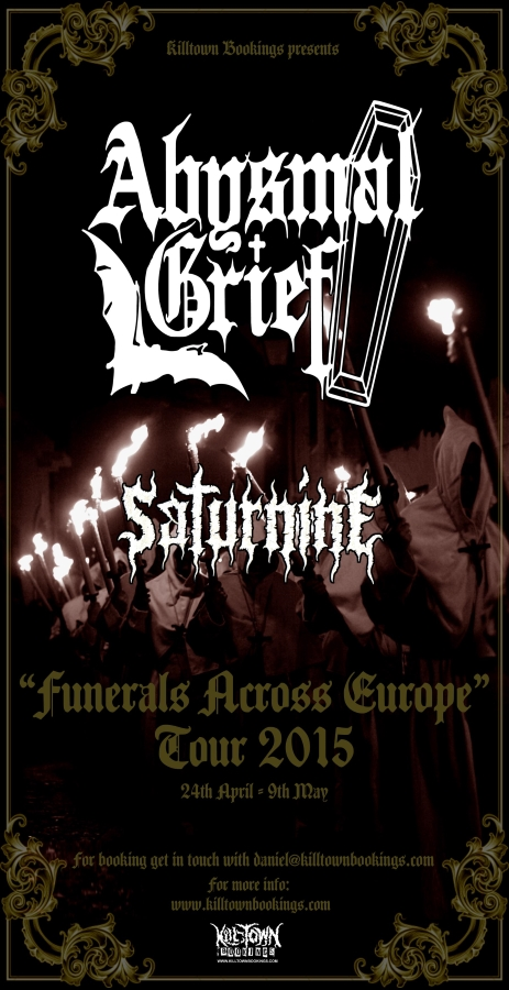 Funerals Across Europe Tour 2015 - Click for Bookings